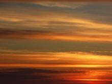 Sonnenuntergang um 22h. Dunkle wurde es erst gegen Mitternacht