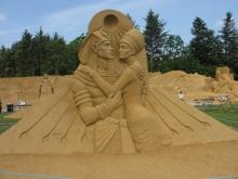 Eine Sandausstellung in Blokhus